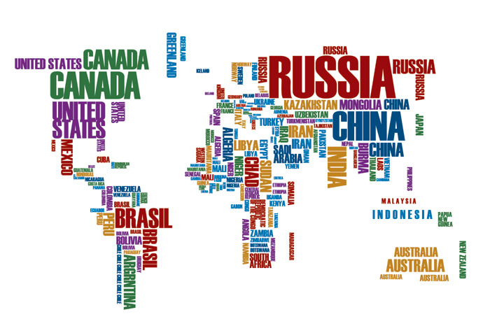 Text world map wallpaper for offices wall decor text world map gumiabroncs Choice Image