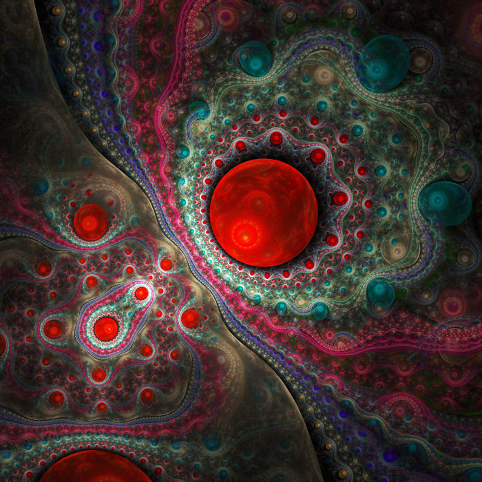 Shop Red Abstract Fractal Background Wallpaper In Abstract