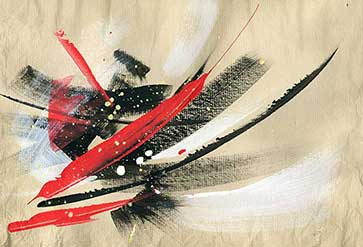 Abstract Painting Feathers