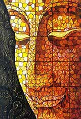 Art Buddha Stained Glass