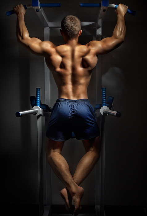 Wallpaper Designs For Living Room In India: Back Of Young Bodybuilder Wallpaper For Fitness & Gym Wall