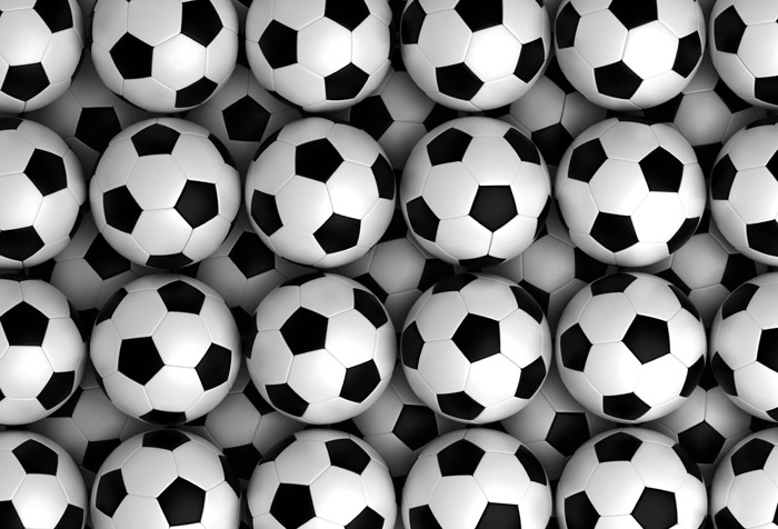 Background With Soccer Balls Wallpaper For Kids Room Decor
