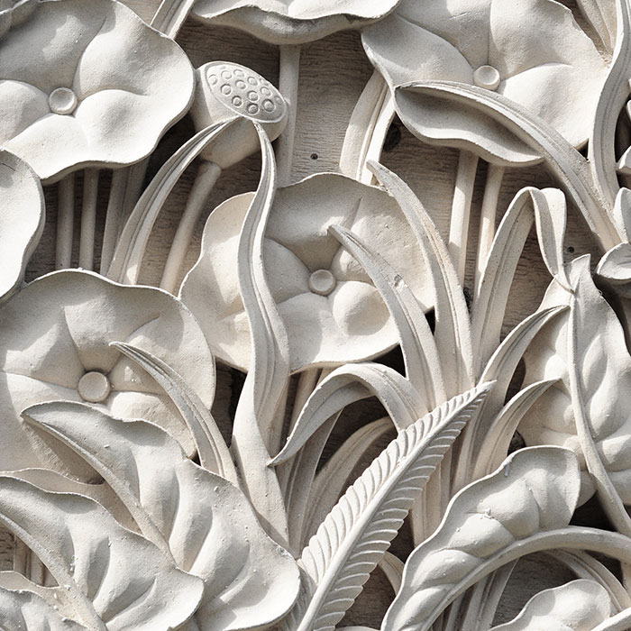 Balinese traditional carved stone wallpaper in