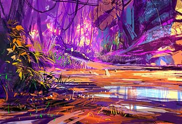 Beautiful Purple Forest