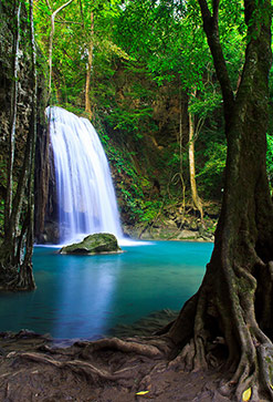Beautiful Waterfall In Thailand