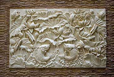 Wall and stone carvings wallpaper in stone carving theme