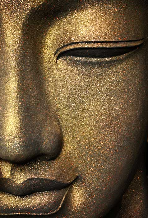 Bronze Face Of Buddha