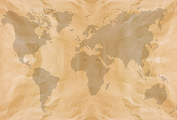 Crumpled Paper World Map