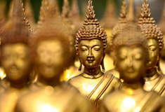 Gold Buddha Statues in Thailand