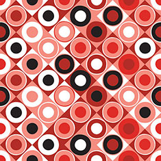 Circle Square Geometric Red