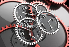 Clock Gears Time Concept