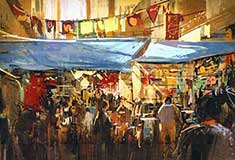 Colorful Street Market