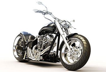 Custom Black Chopper Bike