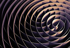 Dark Intersected 3d Spirals
