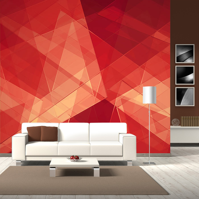 Shop Glass Texture White Red Wall Wallpaper In Abstract Theme