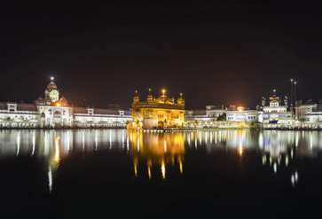 Shop Golden Temple At Night Wallpaper In Religious Theme