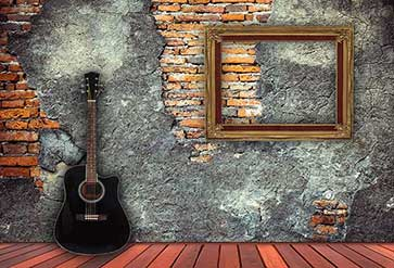 Guitar on Wood Panels