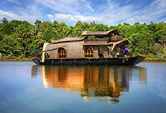 Houseboat in Backwaters