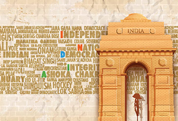 India Gate with Relative
