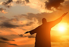 Jesus And The Sunset