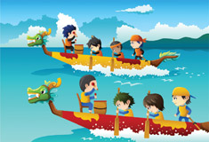 Kids in Boat Racing
