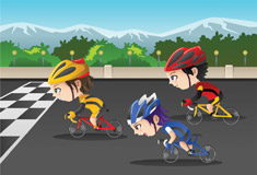 Kids in Cycle Race