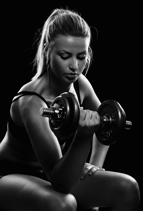 Lady workout with weights wallpaper for fitness gym wall for Lady fitness