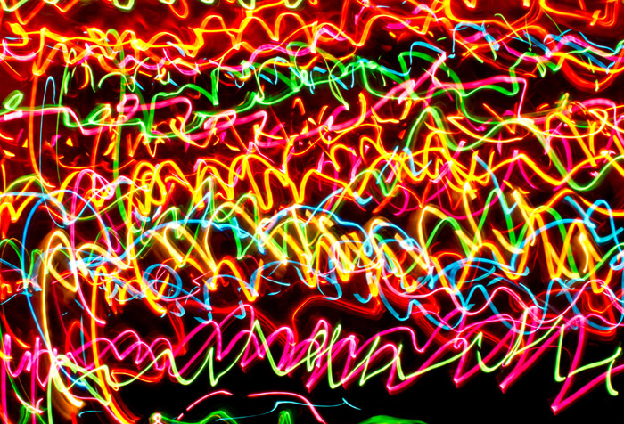shop long exposure neon lights wallpaper in abstract theme