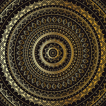 Mandala Indian Decorative Pattern Wallpaper For Spa Saloon Wall Decor