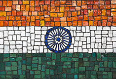 Mosaic Flag of India