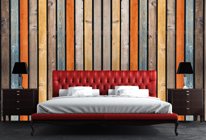 Buy Multi Colored Wood Background Wall Murals In Textures