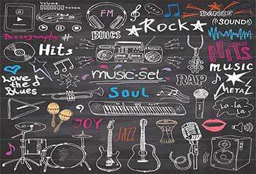 Music Items Doodle