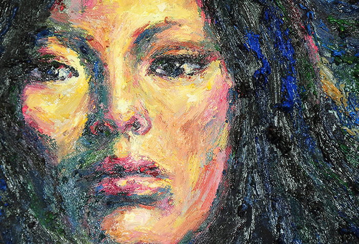 Shop Woman Face Artwork Wallpaper in Paintings Theme