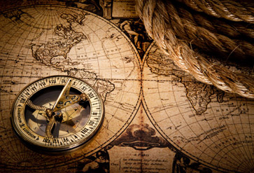 Shop Vintage Compass and Map Wallpaper in Maps & Geography ...