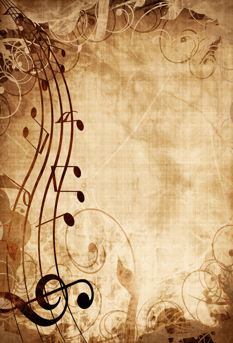 Shop Old Music Sheet With Musical Notes Wallpaper In Music