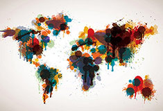 Painted World Map