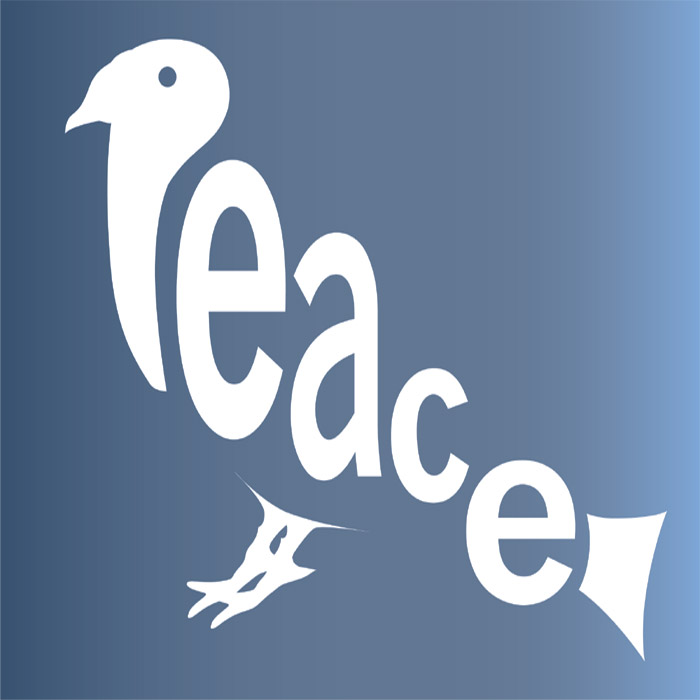 Shop Peace Word Written As Pigeon Wallpaper In Text