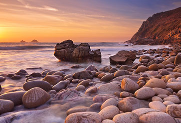 Porth Nanven In Cornwall England