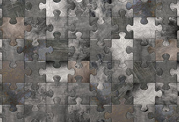 Puzzle Metal Wall