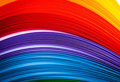 Rainbow Colored Guilling Paper