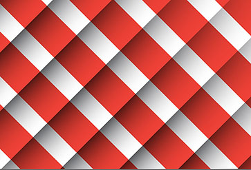 Red and White 3D