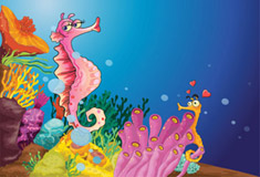 Seahorses in Sea