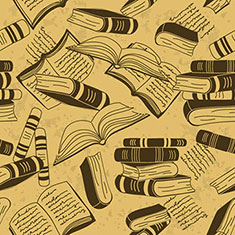Seamless Pattern of Books