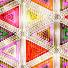 Shiny Colorful Geometric Shapes