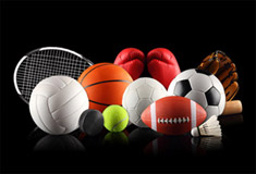 Sports Ball with Racket