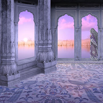 Shop Sunrise In A Hindu Palace Wallpaper In India Theme