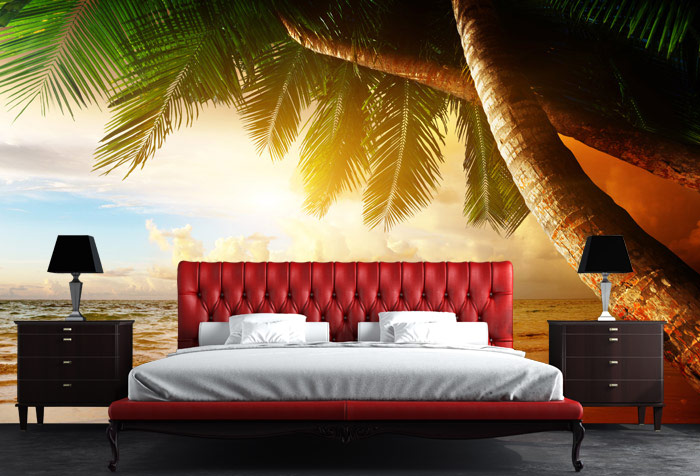 Shop Sunrise On Caribbean Beach Wallpaper In Coastal