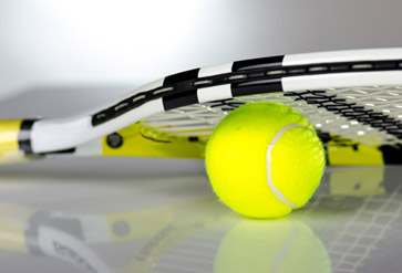 Tennis Balls With Racket