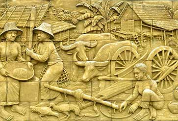 Thai Stucco Stone Carving
