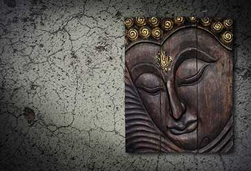 Wood Graving Buddha